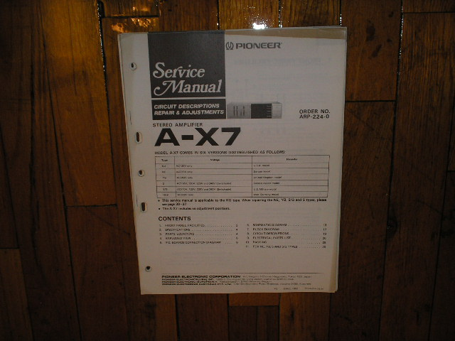 A-X7 Amplifier Service Manual
