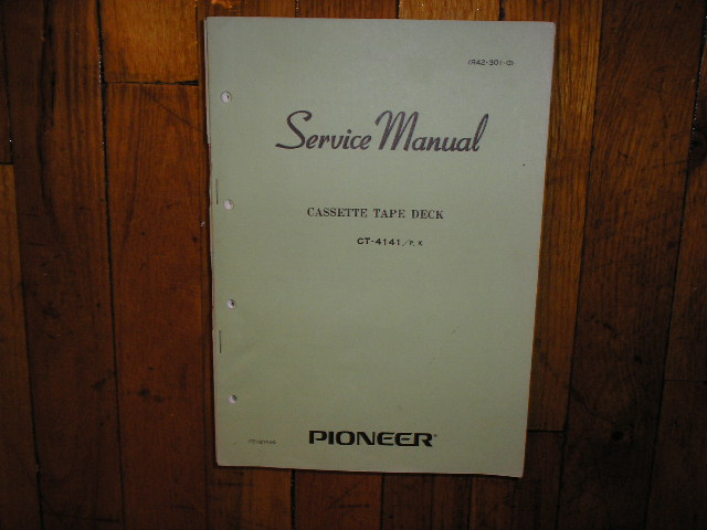 CT-4141 Cassette Deck Service Manual for P and K Types