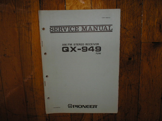 QX-949 FUW Receiver Service Manual. 2 Manuals with large foldout schematic.