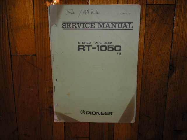 RT-1050 FU RT-1050FU Reel to Reel Service Manual
