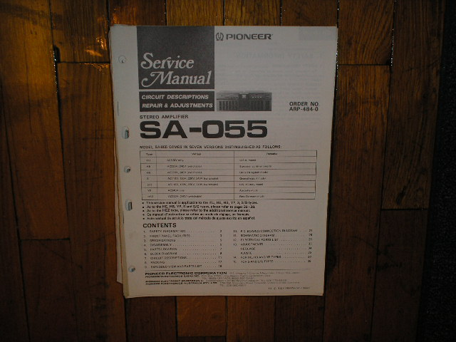 SA-055 Amplifier Service Manual