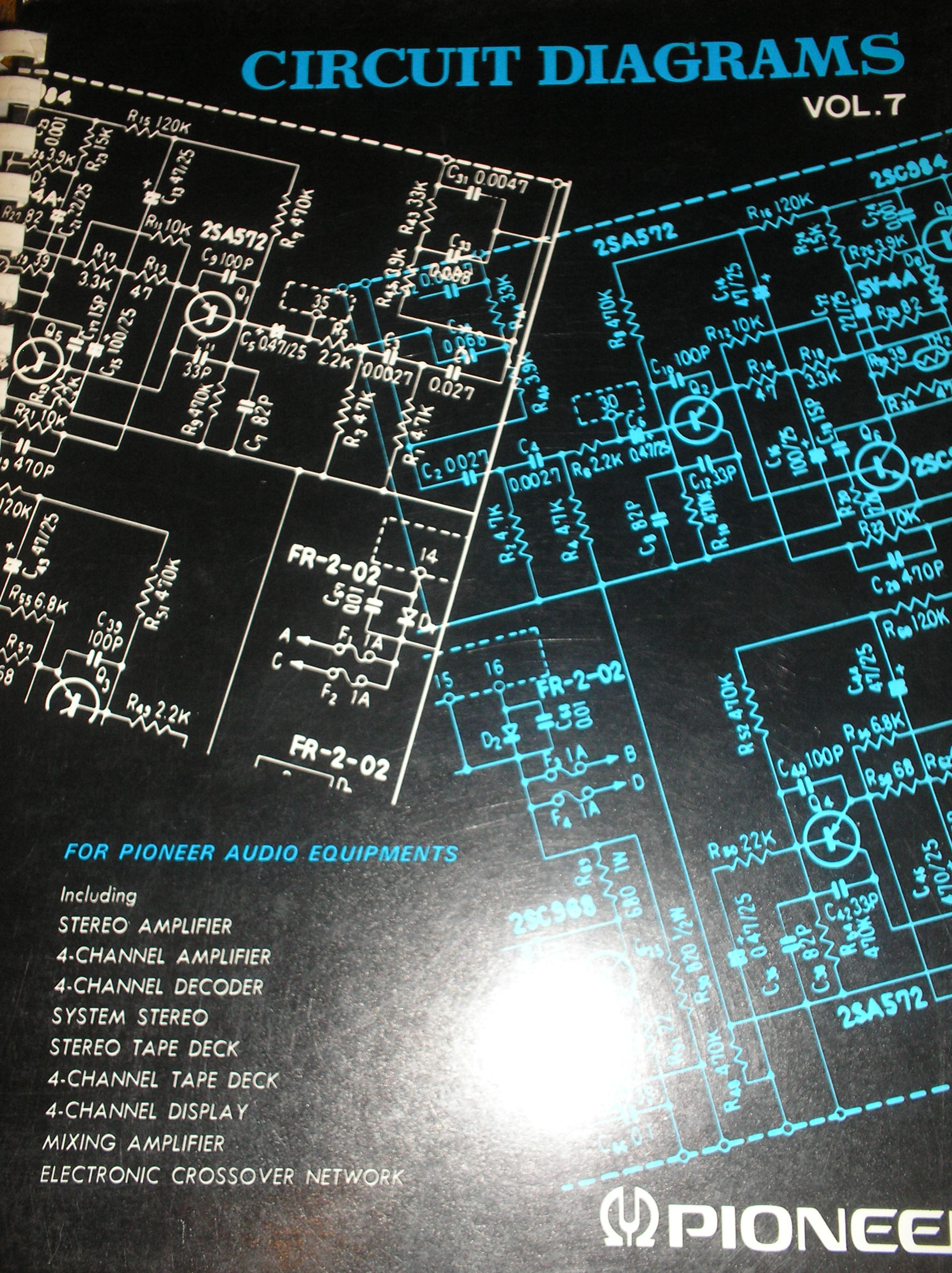 QT-74 4 Channel Reel to Reel fold out schematics  PIONEER SCHEMATIC MANUALS