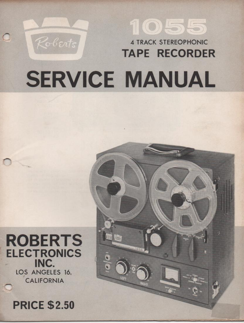 1055 4 Track Reel to Reel Service Manual  ROBERTS