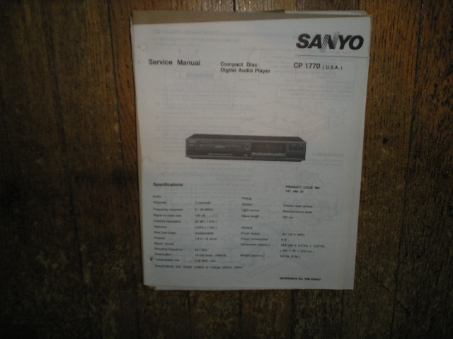 CP1770 CD Player Service Manual