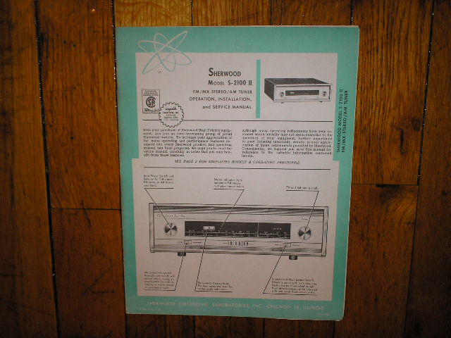 S-2100 II Tuner Service Manual for Serial no D33001  Sherwood
