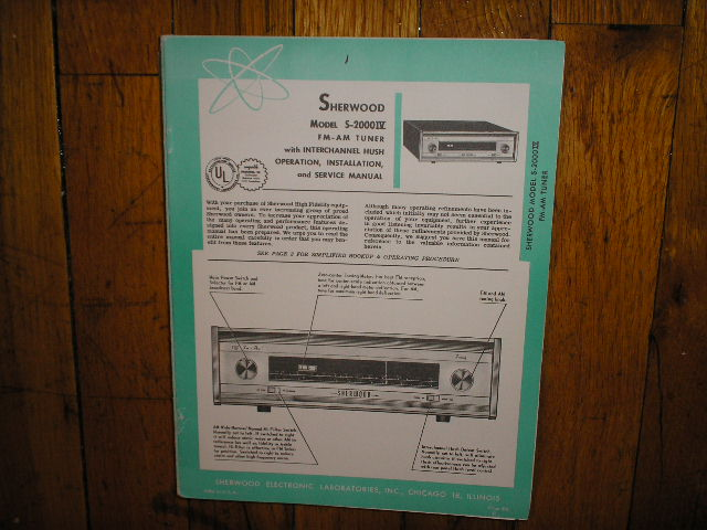 S-2000 IV Tuner Service Manual  Sherwood