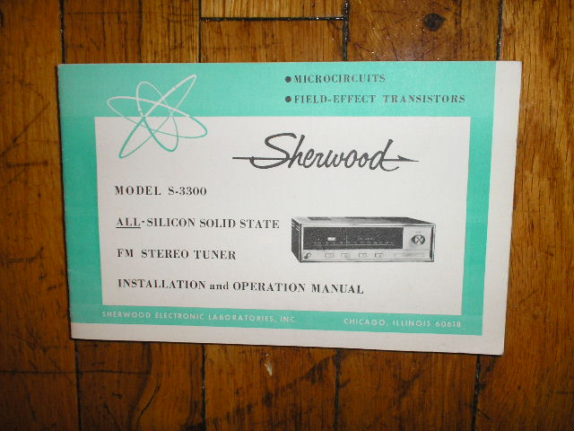 S-3300 Tuner Owners Manual  Sherwood