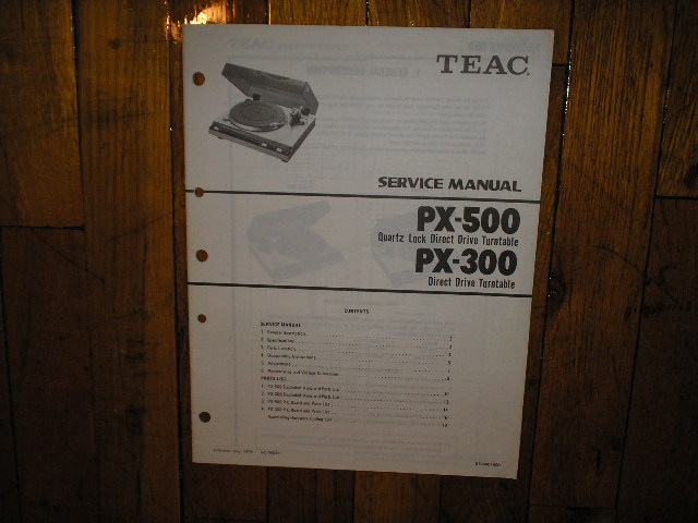 PX-300 PX-500 Turntable Service Manual  TEAC