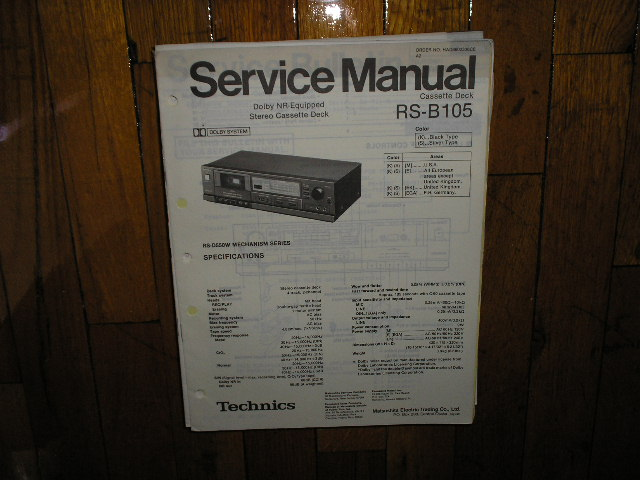 RS-B105 Cassette Deck Service Manual