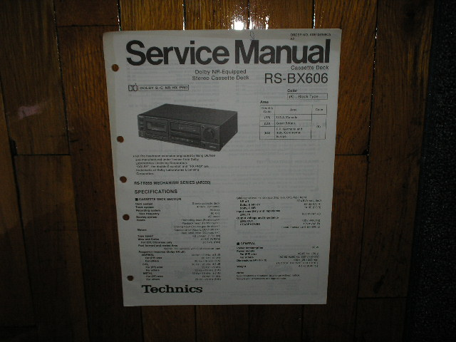 RS-BX606 Cassette Deck Service Manual