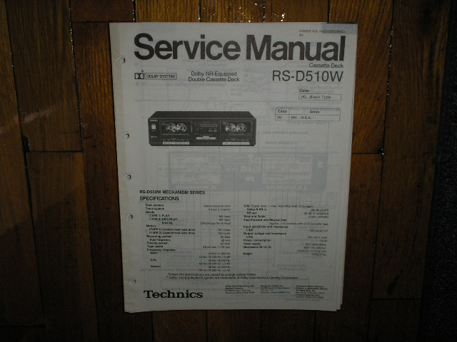 RS-D510W Cassette Deck Service Manual