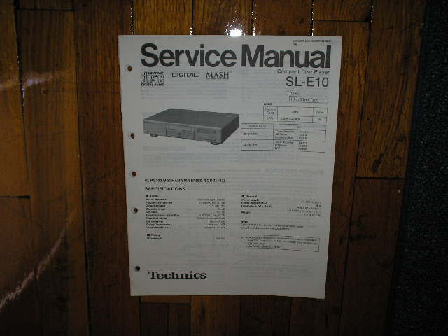 SL-E10 CD Player Operating Manual