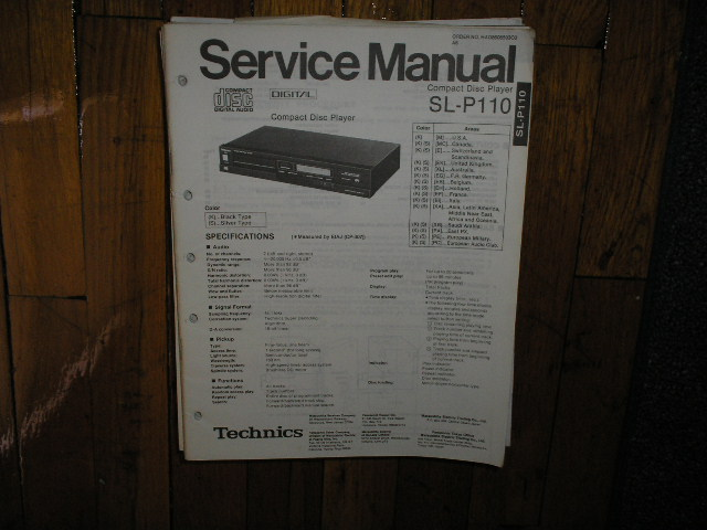 SL-P110 CD Player Operating Manual