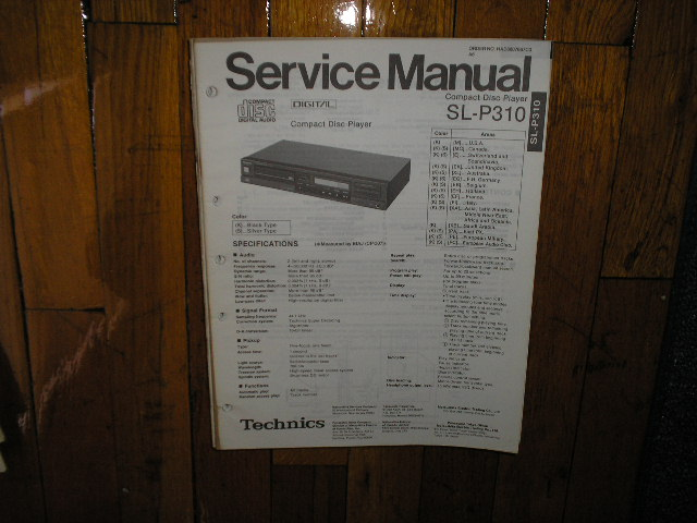 SL-P310 CD Player Operating Manual