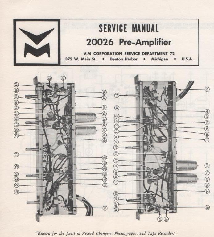 20026 Pre-Amplifier Service Manual  VOICE OF MUSIC