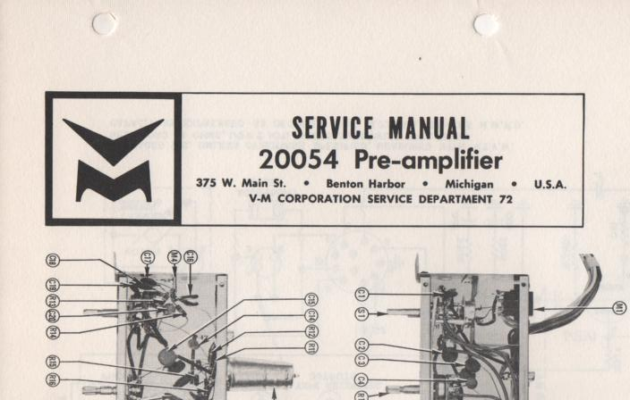20054 Pre-Amplifier Service Manual  VOICE OF MUSIC