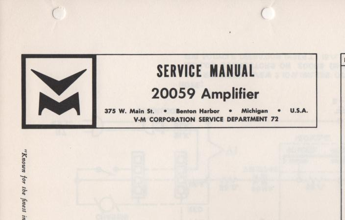 20059 Amplifier Service Manual