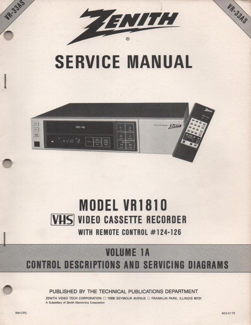Zenith R915P MR916PN MR917M L Line Console Service Manual HF50 on